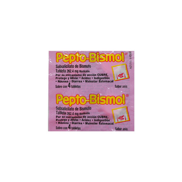 Farmacia PVR - Pepto Bismol - 4 Tabletas